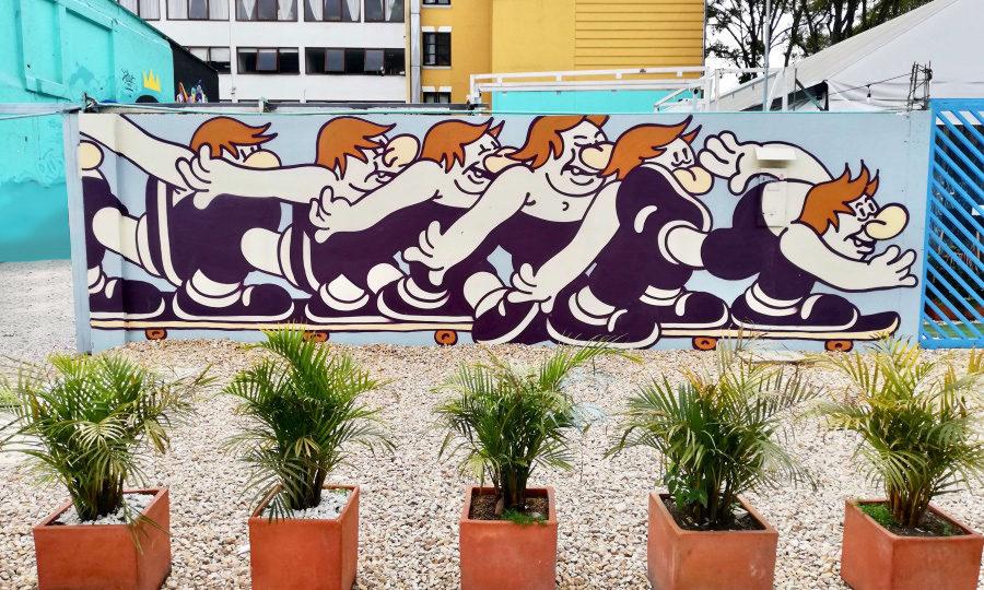 Graffiti caricatura en movimiento