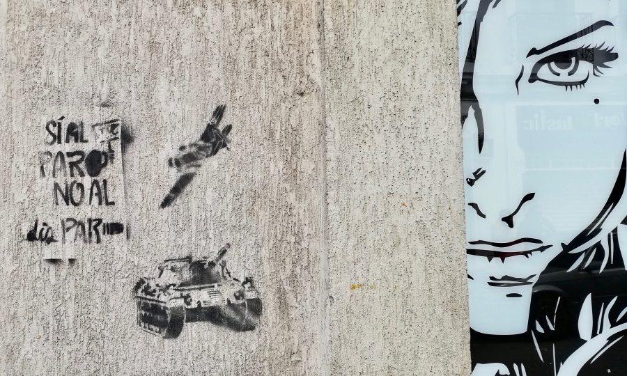 Graffiti Psi al paro no al disparo